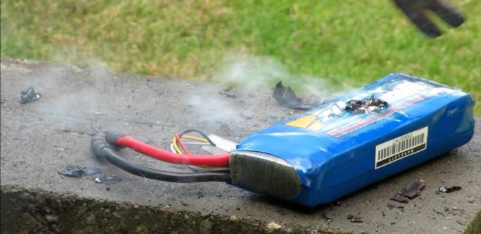 Be careful not to puncture batteries as they may catch fire or explode